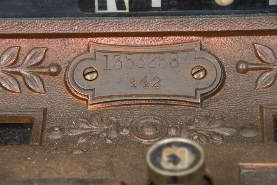 National Cash Register, Oak Stand & Receipt Box - 3