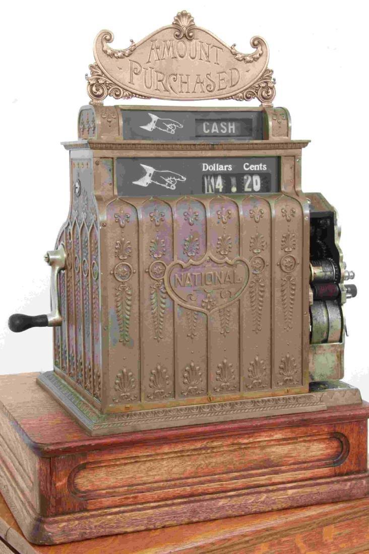 National Cash Register, Oak Stand & Receipt Box - 5