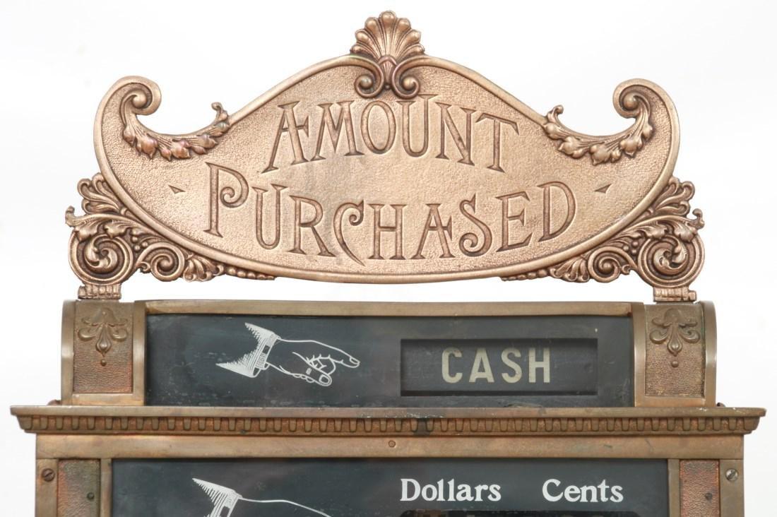 National Cash Register, Oak Stand & Receipt Box - 6