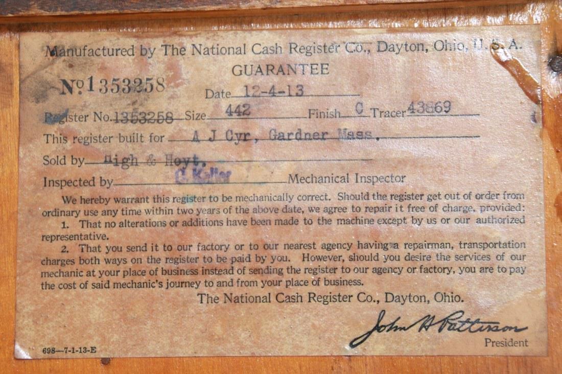 National Cash Register, Oak Stand & Receipt Box - 7