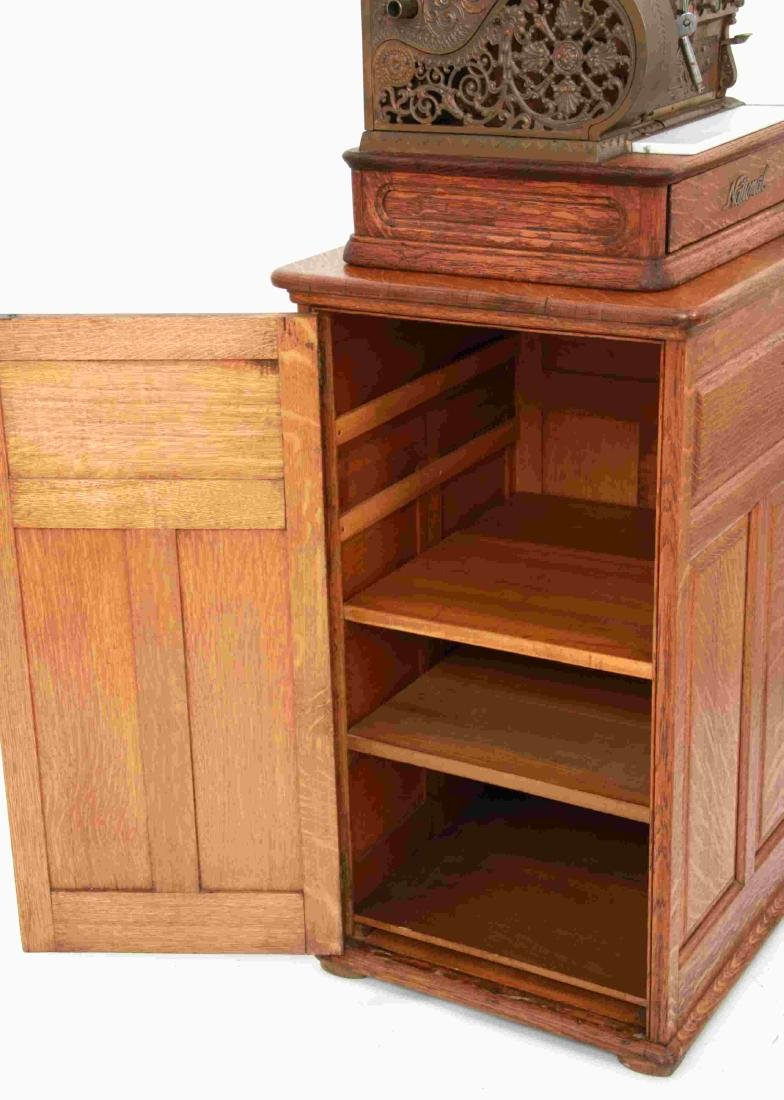 National Cash Register, Oak Stand & Receipt Box - 8