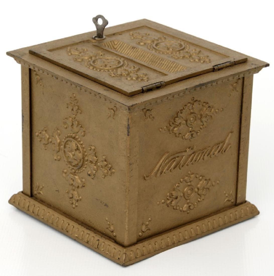 National Cash Register, Oak Stand & Receipt Box - 9