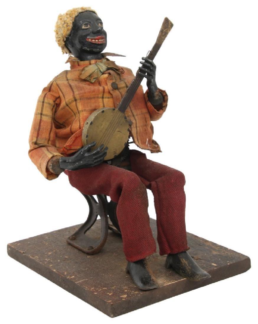 Jerome Secor Clockwork Banjo Player Automaton