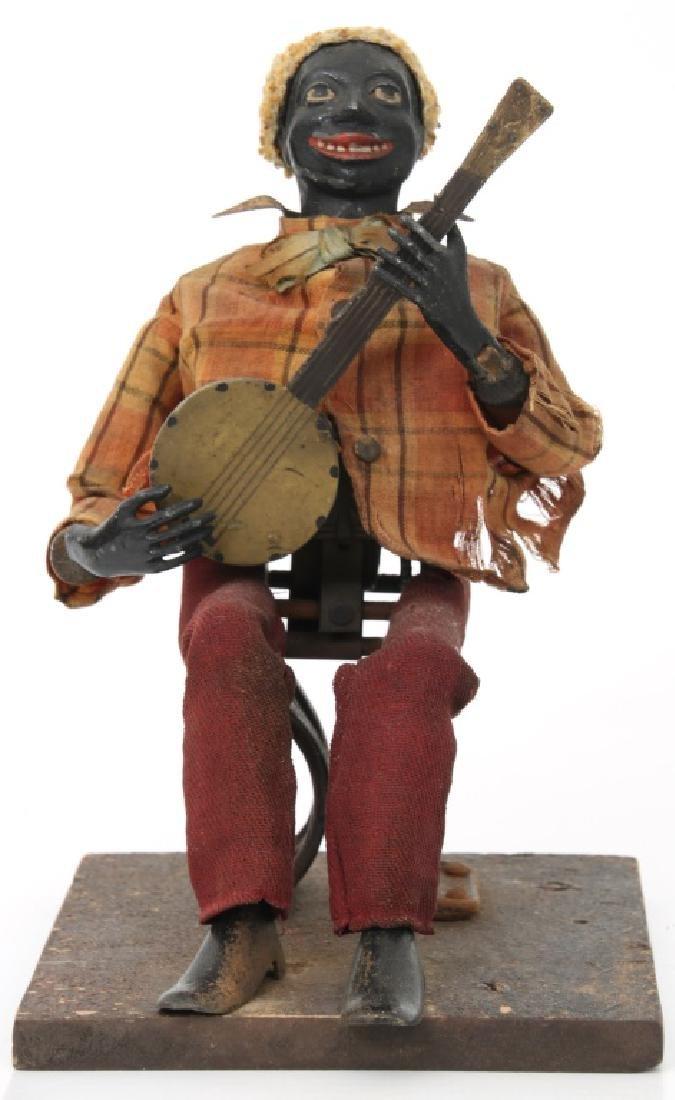 Jerome Secor Clockwork Banjo Player Automaton - 9