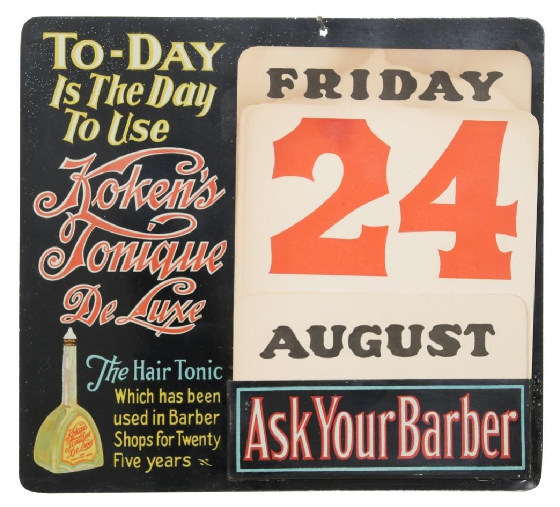 Koken's Tonique de Lux Tin Perpetual Calendar