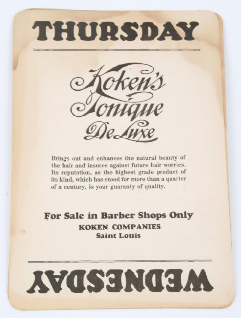 Koken's Tonique de Lux Tin Perpetual Calendar - 7