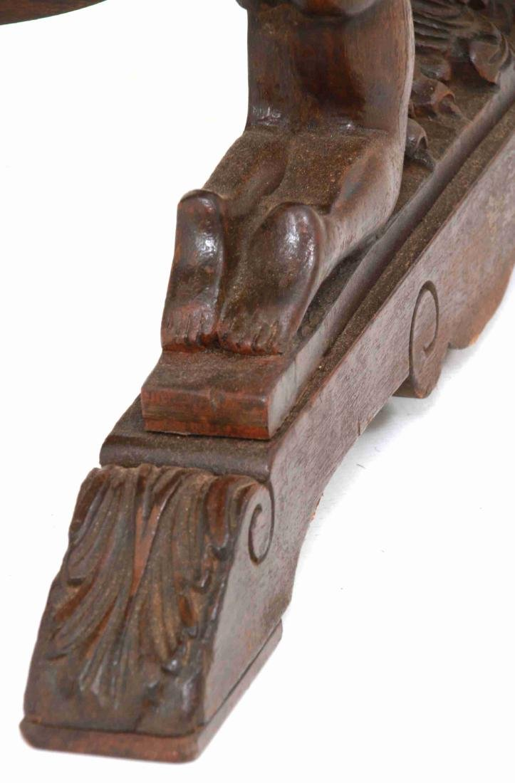 Figural Marble Top Side Table - 10
