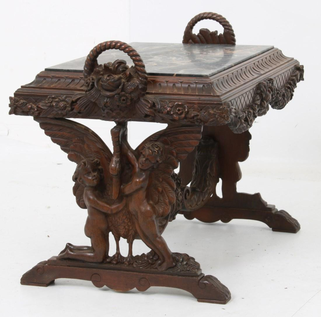 Figural Marble Top Side Table - 3