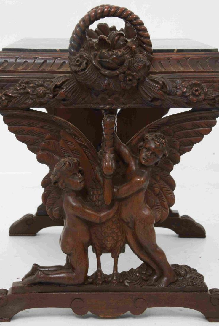 Figural Marble Top Side Table - 4