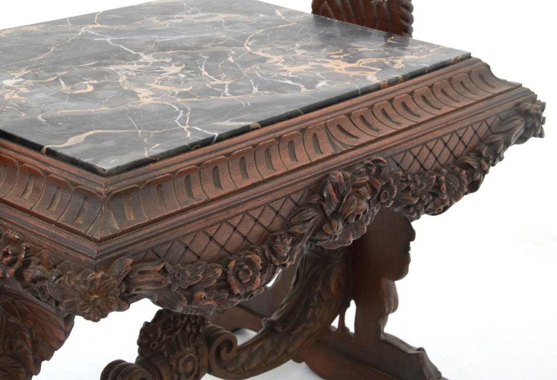 Figural Marble Top Side Table - 7