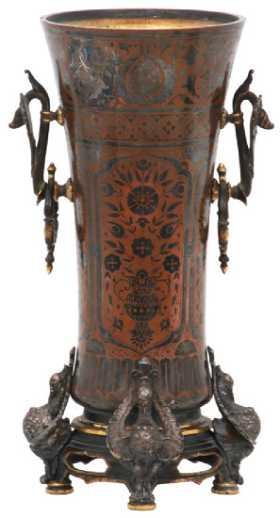 Vintage Metal Vases Garnitures For Sale Antique Metal Vases