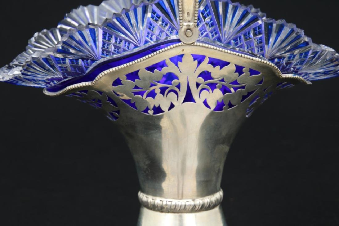 Austrian Silver & Cut Glass Basket - 6
