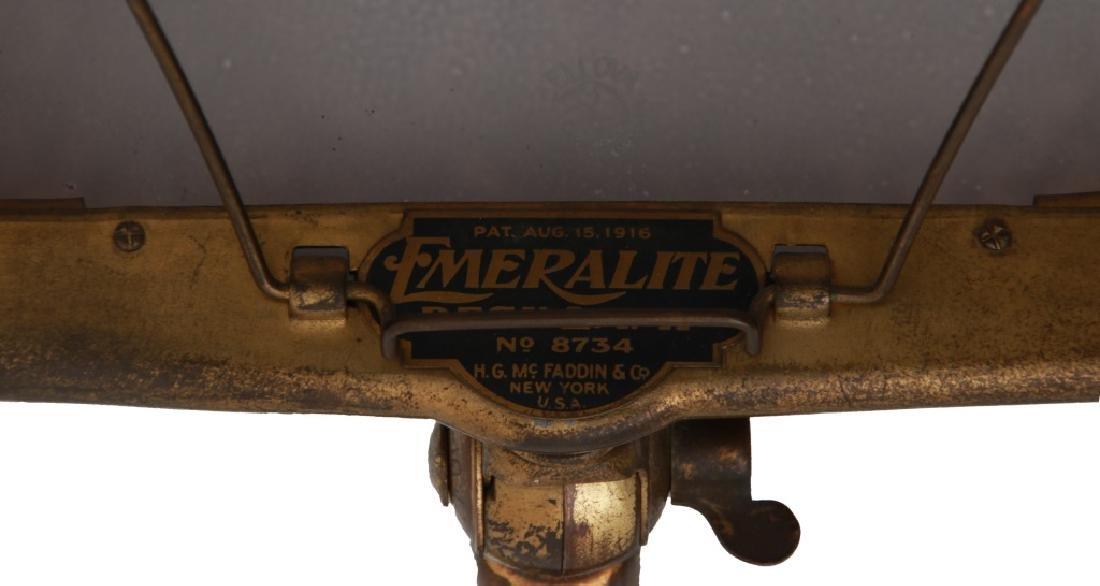 Emeralite Piano Lamp With Bellova Shade - 9