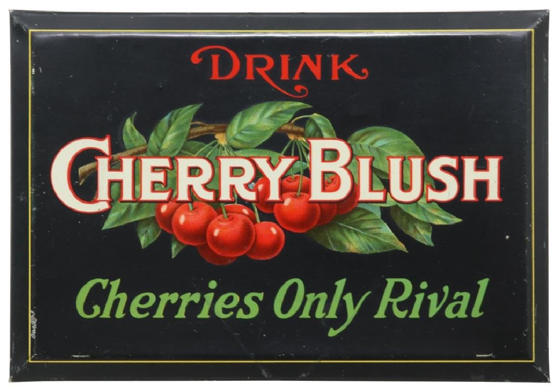 Tin Cherry Blush Advertising Sign