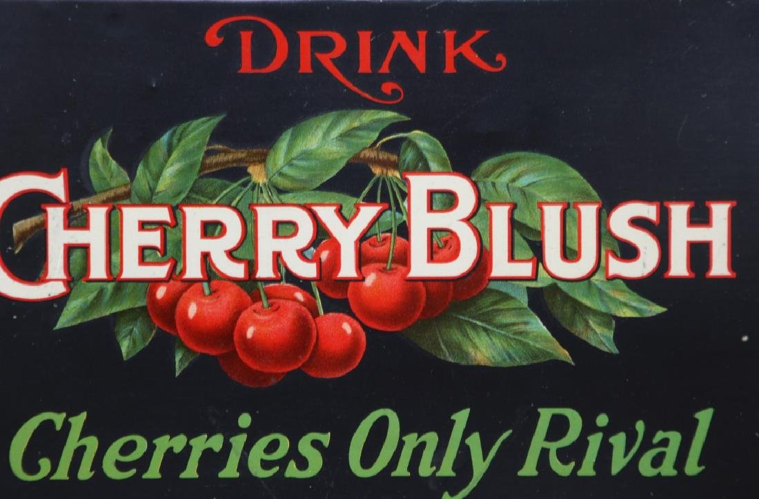 Tin Cherry Blush Advertising Sign - 2