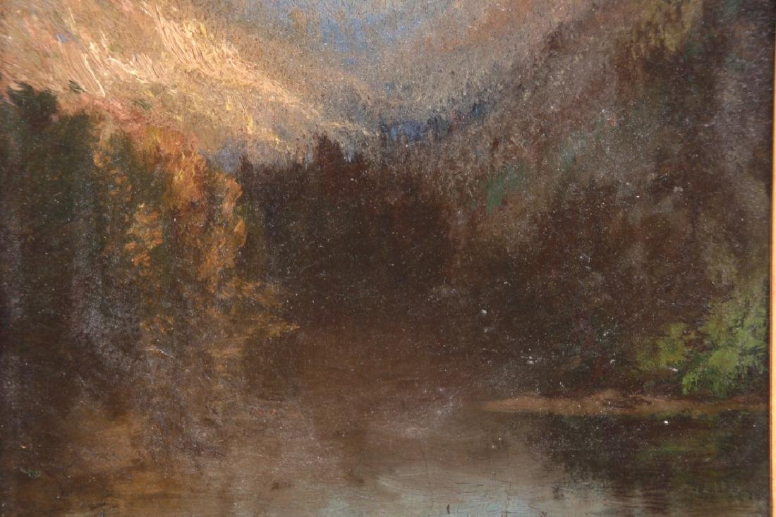 19th Century O/C Hudson River School Painting - 3