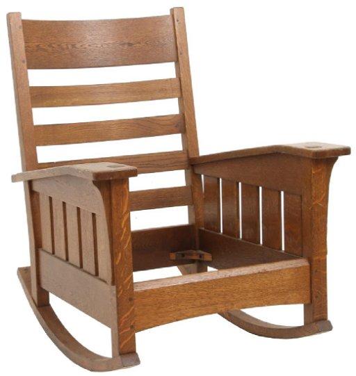 Superb L Jg Stickley Drop Arm Oak Rocker Creativecarmelina Interior Chair Design Creativecarmelinacom