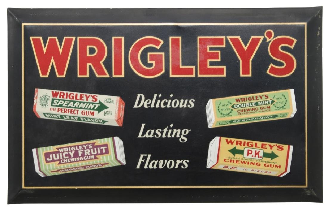 Tin Wrigley's Gum Advertising Sign