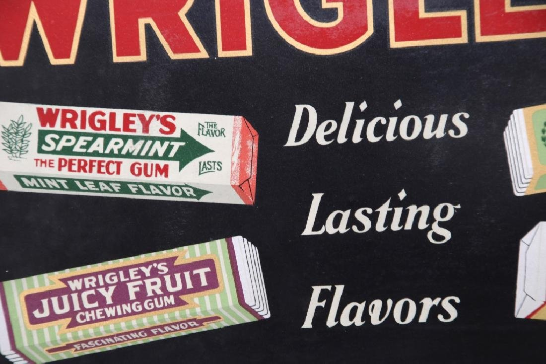 Tin Wrigley's Gum Advertising Sign - 2