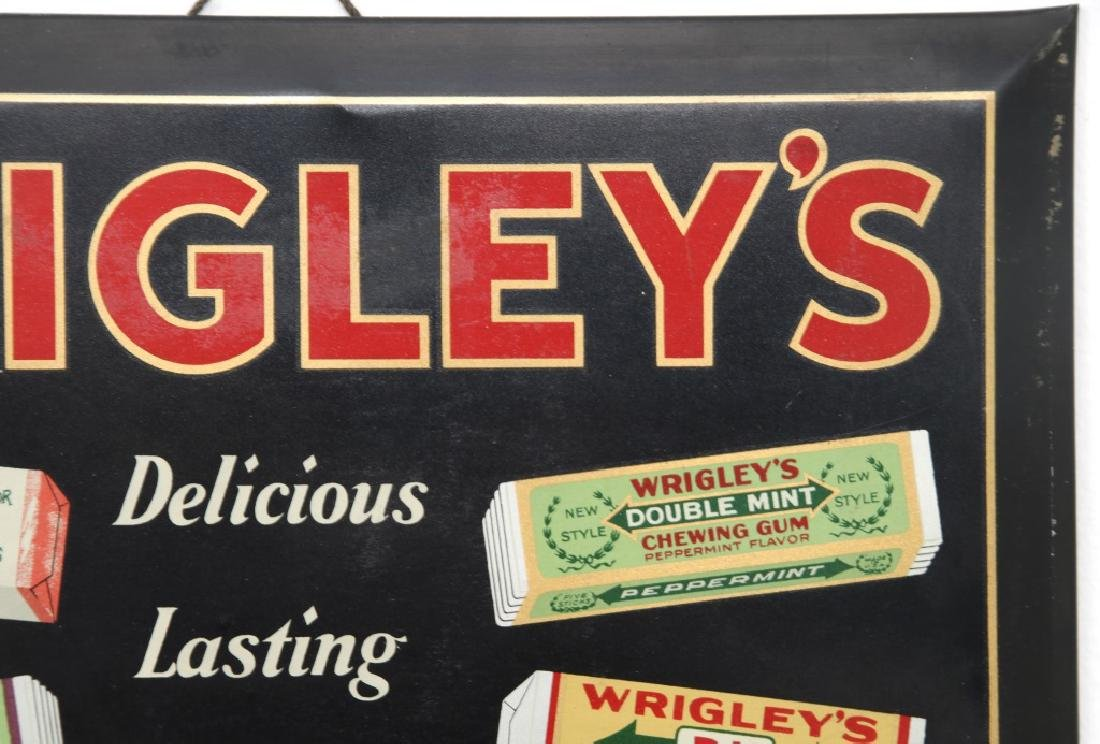 Tin Wrigley's Gum Advertising Sign - 3