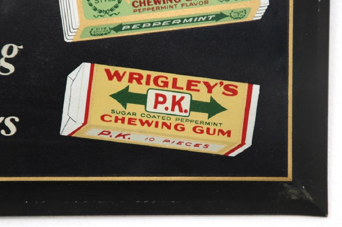 Tin Wrigley's Gum Advertising Sign - 4