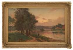 Henry Orne Rider O/C Landscape