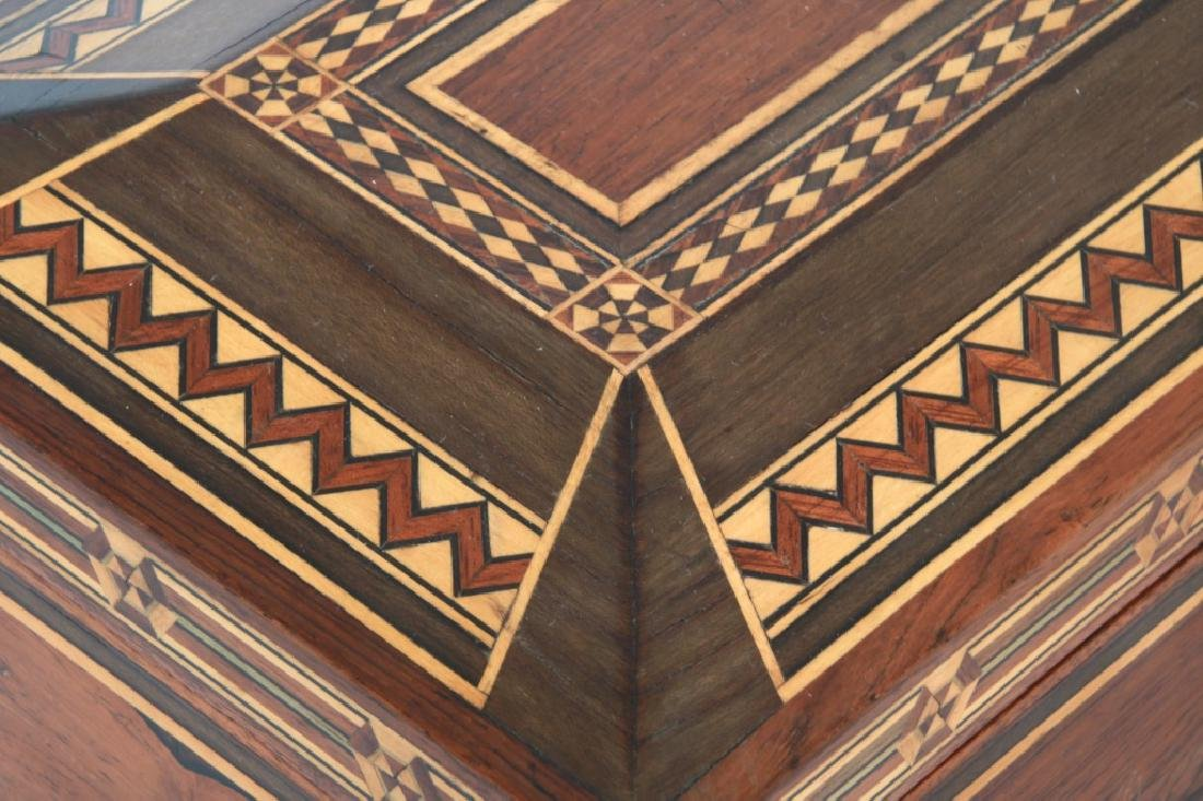 Marquetry Inlaid Rosewood Jewelry Box - 5