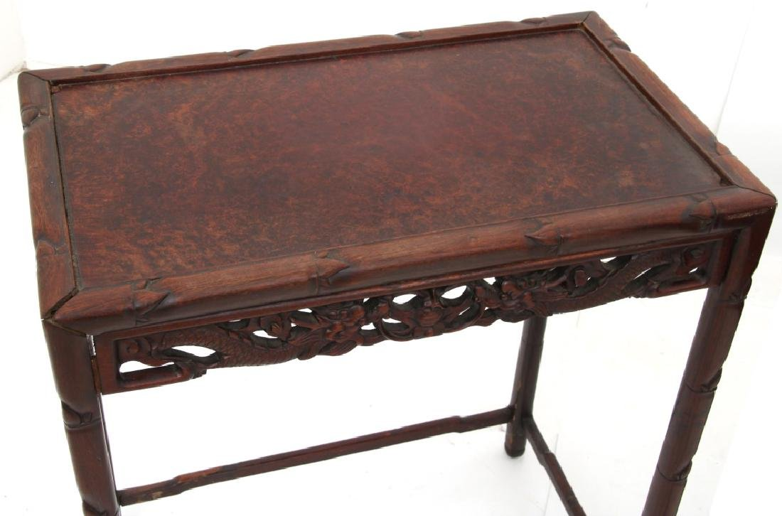 4 Chinese Carved Teak Nesting Tables - 4