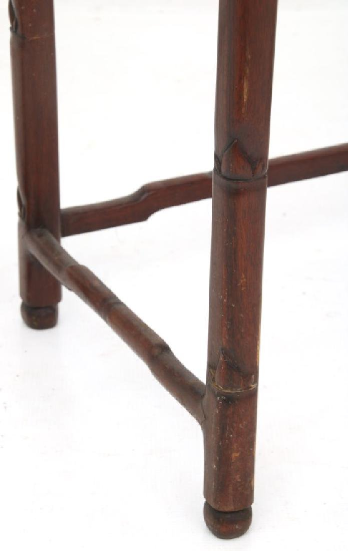 4 Chinese Carved Teak Nesting Tables - 7
