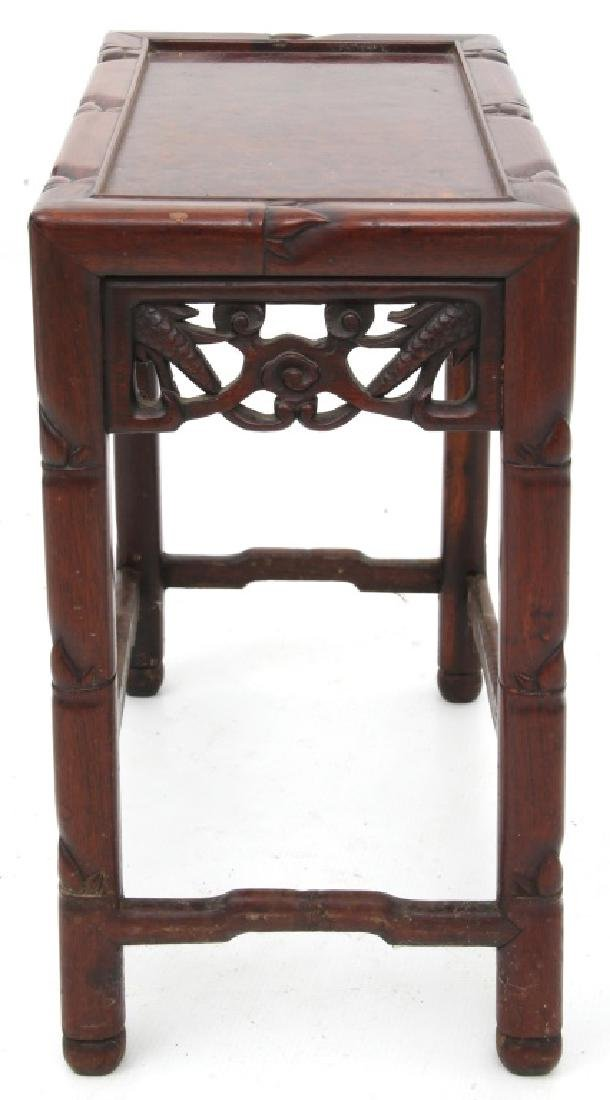 4 Chinese Carved Teak Nesting Tables - 8