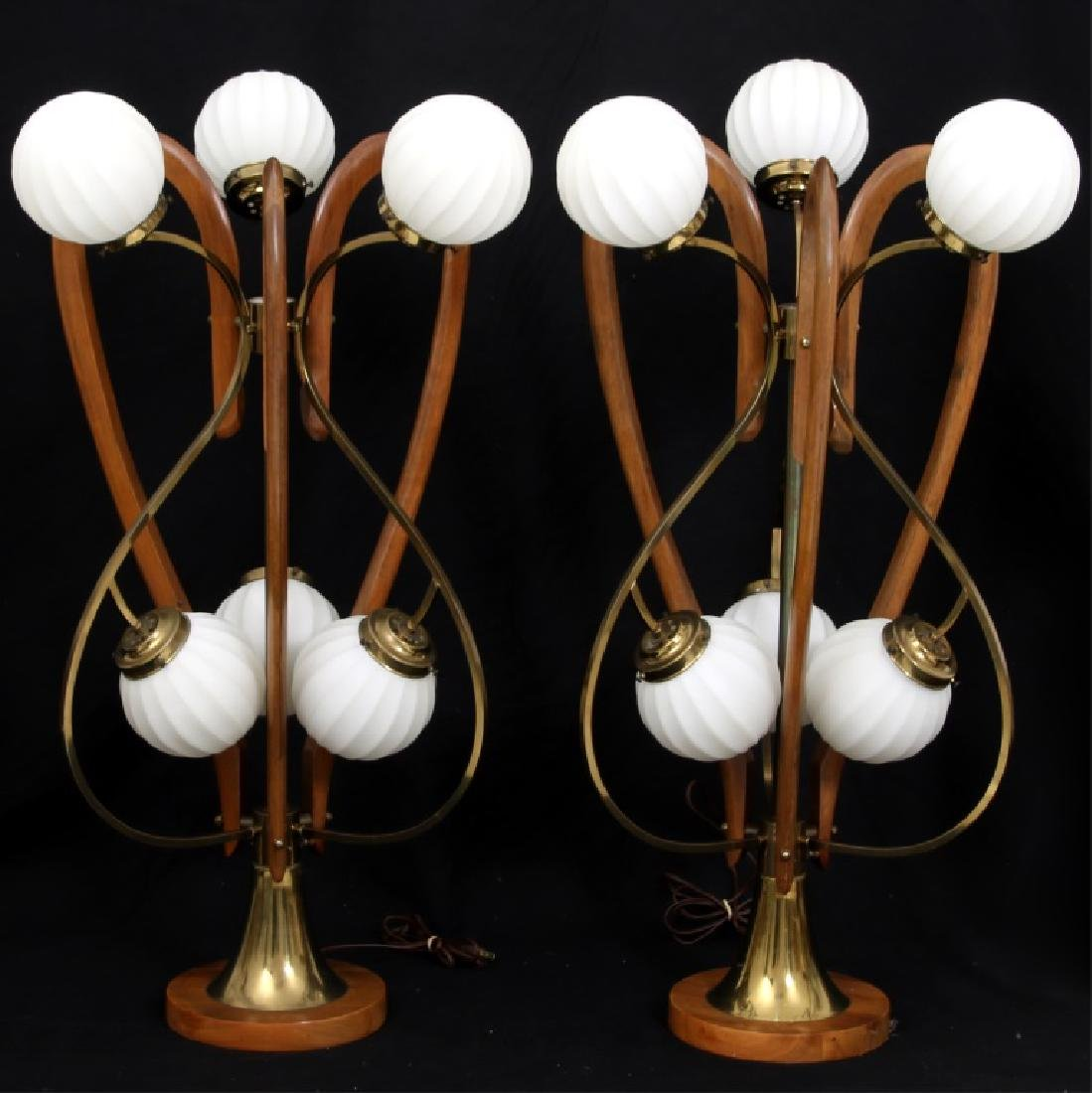 Pr. Adrian Pearsall Walnut Table Lamps