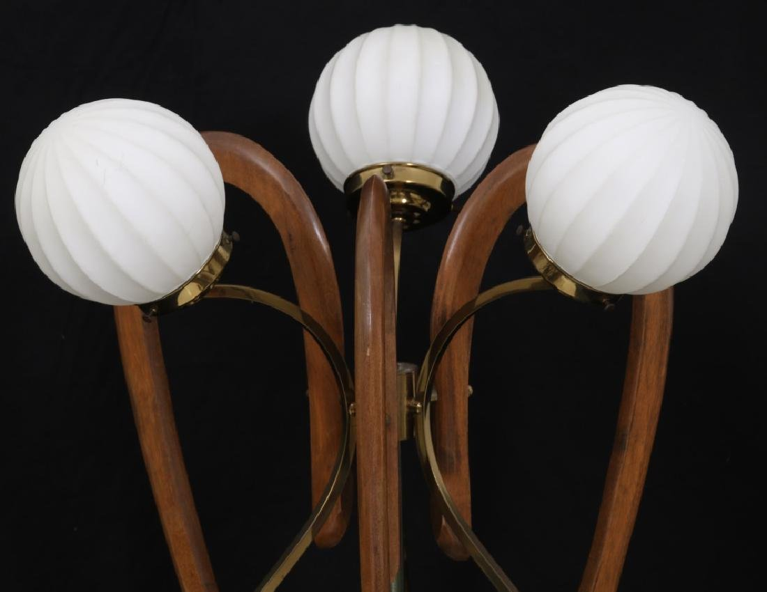 Pr. Adrian Pearsall Walnut Table Lamps - 2