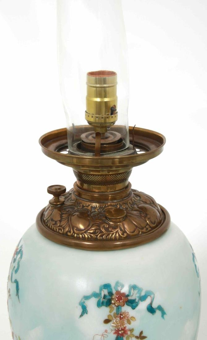Lg. Gone With The Wind Lamp - 9