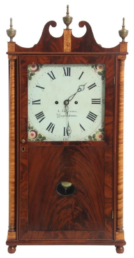 Rare Maryland Pillar & Scroll Clock