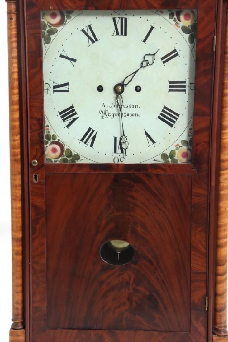 Rare Maryland Pillar & Scroll Clock - 4