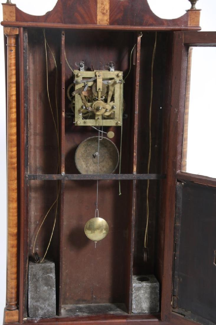 Rare Maryland Pillar & Scroll Clock - 8