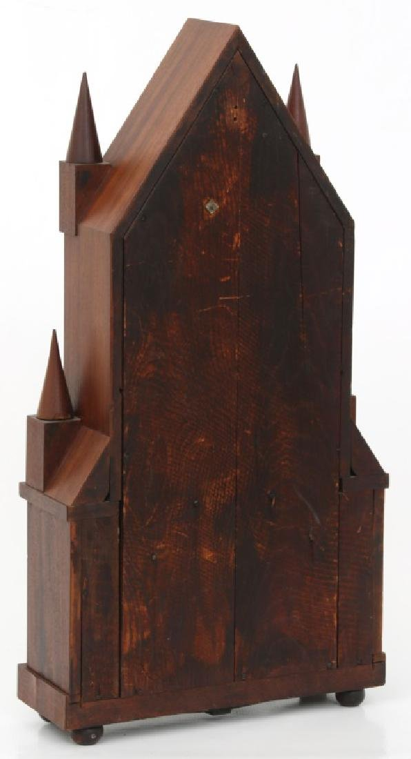 Wagon Spring Double Steeple Mantle Clock - 10