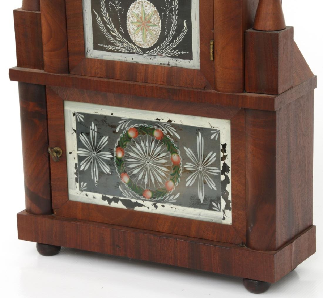 Wagon Spring Double Steeple Mantle Clock - 2