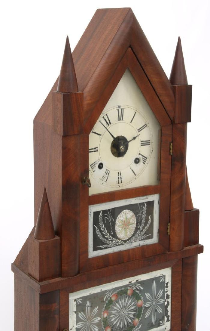Wagon Spring Double Steeple Mantle Clock - 3