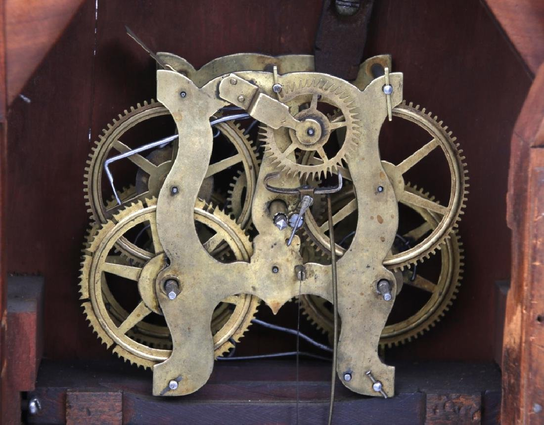 Wagon Spring Double Steeple Mantle Clock - 6
