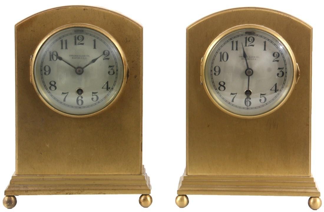 Pr. Chelsea Brass Boudoir Clocks