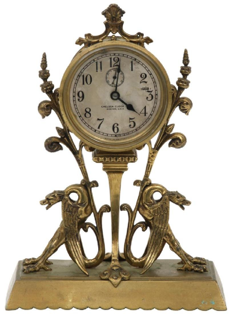 Chelsea Bronze Winged Griffin Mantle Clock