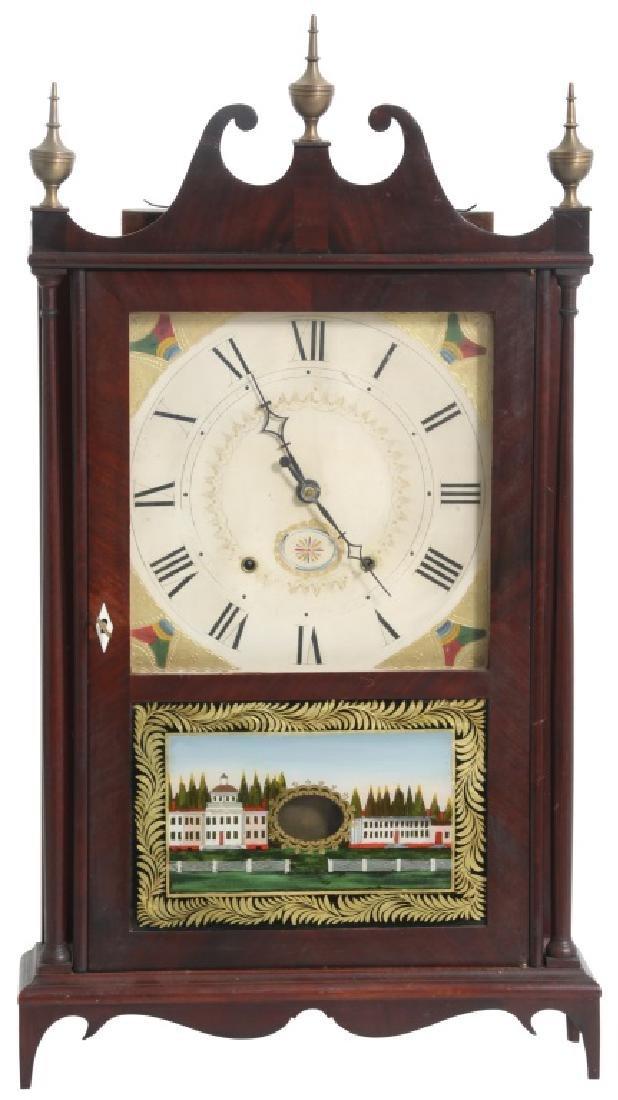 Seth Thomas Mahogany Pillar & Scroll Clock