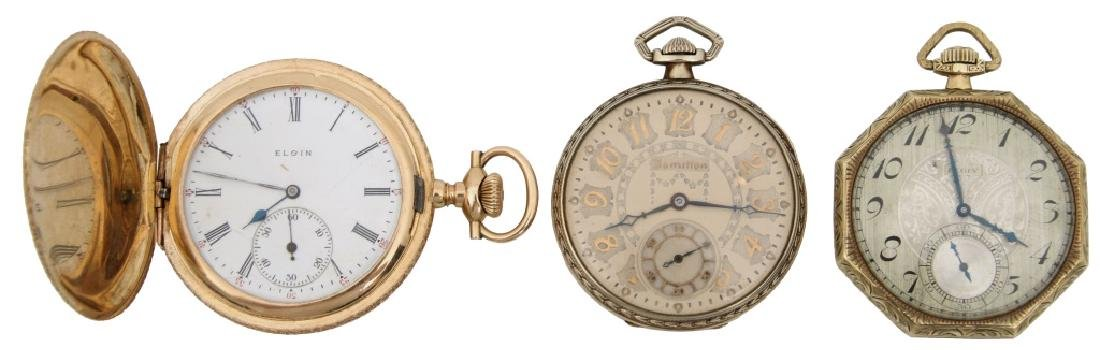 3 American Gold Pocket Watches