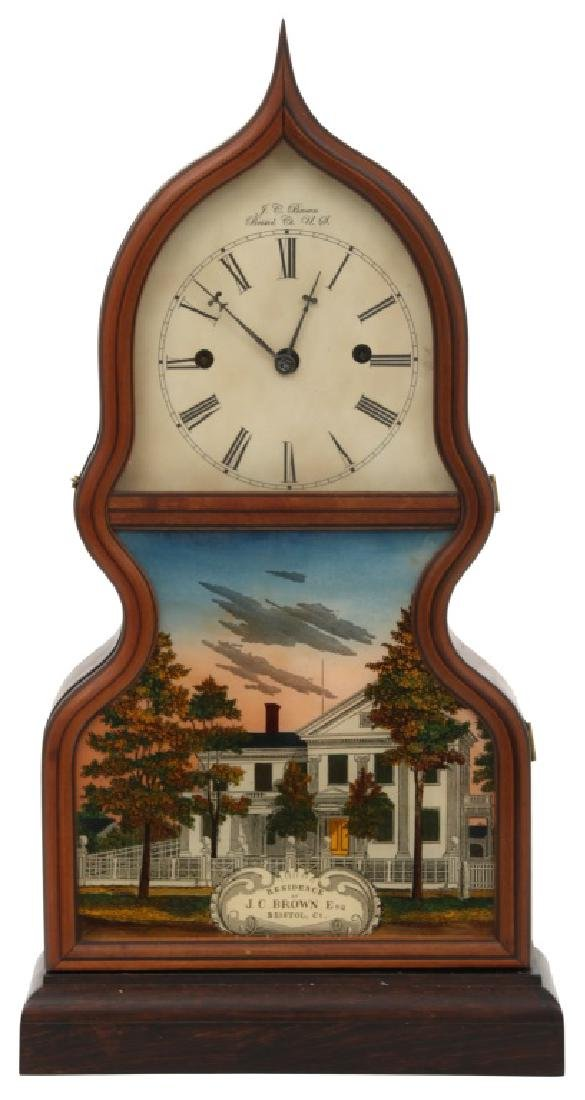 J.C. Brown Detached Fusee Acorn Mantle Clock