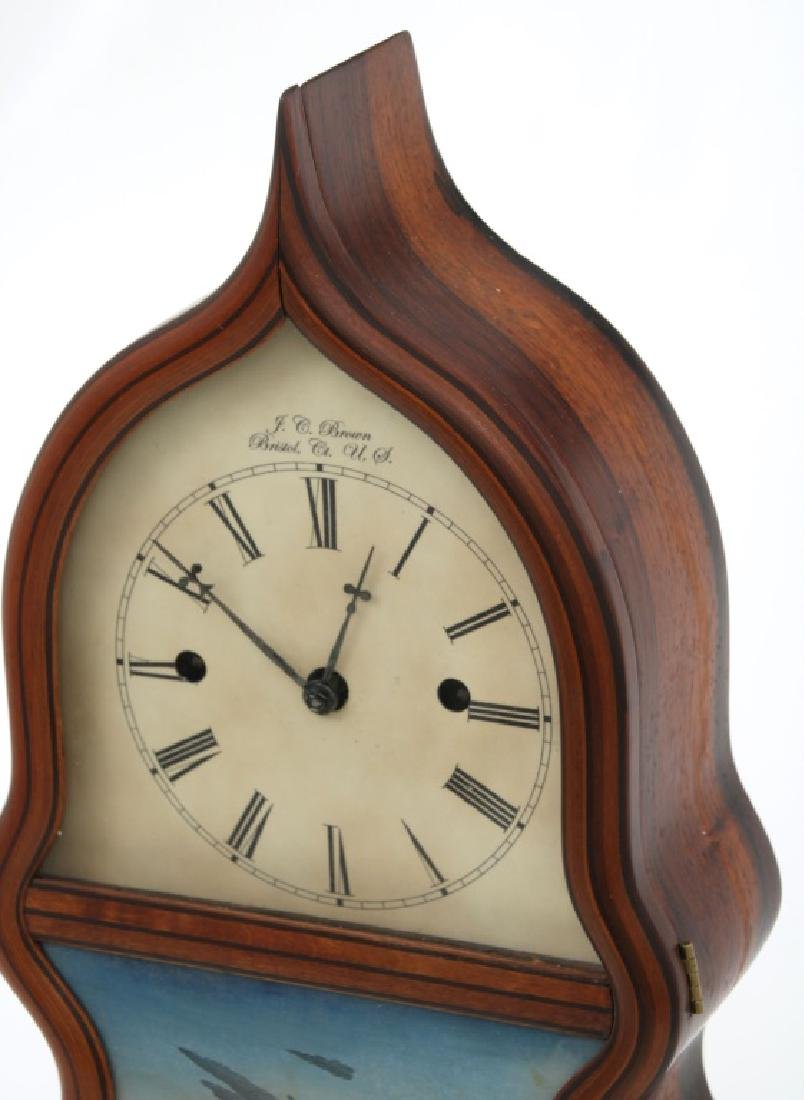 J.C. Brown Detached Fusee Acorn Mantle Clock - 2