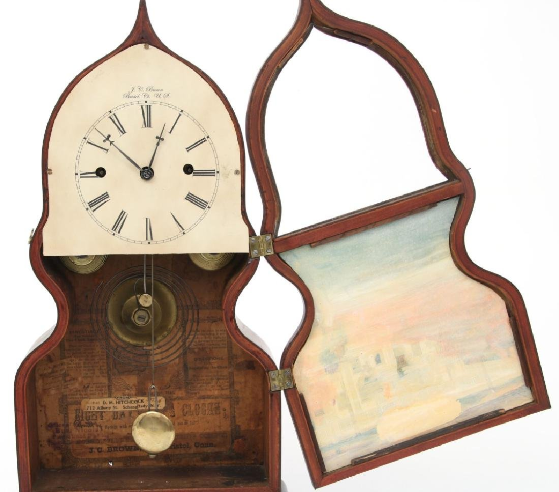 J.C. Brown Detached Fusee Acorn Mantle Clock - 8