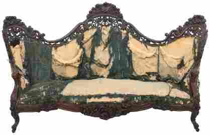 Belter Fountain Elms Laminated Rosewood Sofa