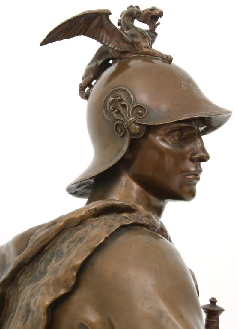 "F. Barbedienne Bronze ""Le Courage Militaire"" - 7"