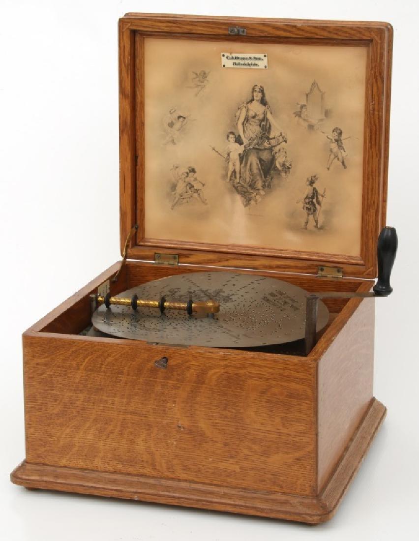 Oak Regina Model 20 Disc Music Box - 10